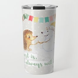 Winter Woodland: My Heart is Yours - Grey Travel Mug