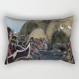 Imperial Death March  - Vintage collage Rectangular Pillow