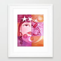 women Framed Art Prints featuring Women by Carol Mota
