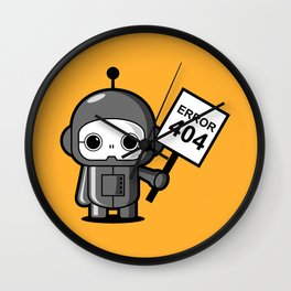 Mini Robot - Error 404 Wall Clock