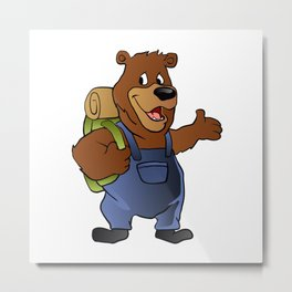 bear hiker. Metal Print