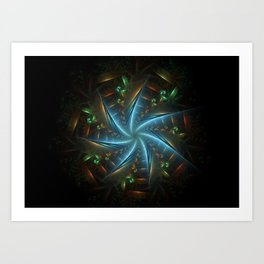 Cirle of Protection Fractal Art Print