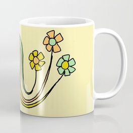 bloom where you are planted // waves and flowers Coffee Mug