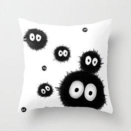 Susuwatari 2 Throw Pillow