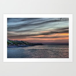 Sunset on Cromer Cliffs Art Print