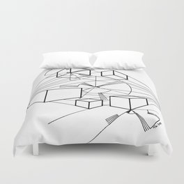 Floating objects Duvet Cover