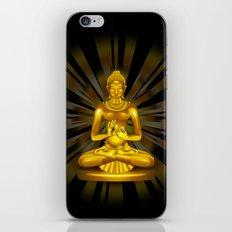 Buddha Siddhartha Gautama Golden Statue iPhone Skin