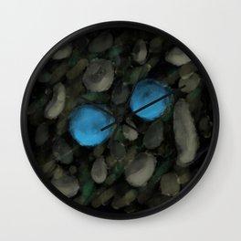 Blue Marbles Wall Clock
