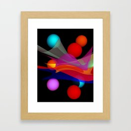 waves on black -02- Framed Art Print