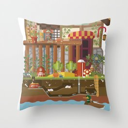Big World, Little People Throw Pillow