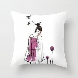 Verba Volant Throw Pillow