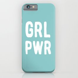 GRL PWR (Blue) iPhone Case