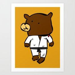 martial beartist of  judo karate ....  Art Print