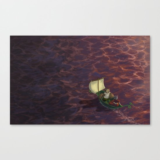They Went To Sea Canvas Print