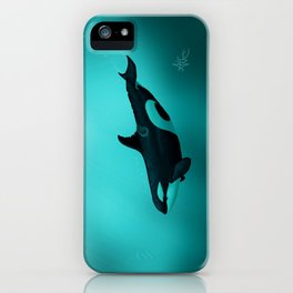 """""""Lost in Paradise"""" by Amber Marine ~ Killer Whale ~ Orca ~ Original Version ~ (Copyright 2015) iPhone Case"""