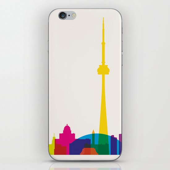 Shapes of Toronto. Accurate to scale iPhone & iPod Skin