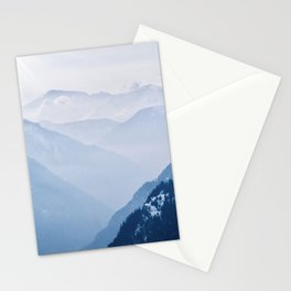 Layers of the Swiss Alps Stationery Cards