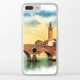 Bridge in Verona Clear iPhone Case