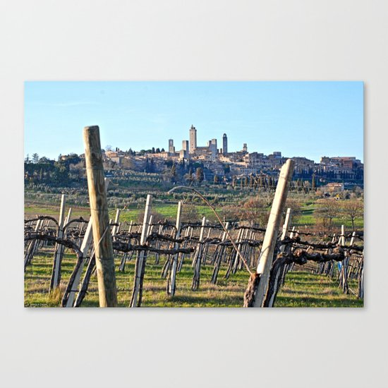 Tuscany's Town of Fine Towers Canvas Print