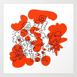 Orange Soup Art Print