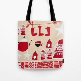 winter gear ivory Tote Bag