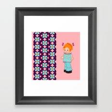 little miss mink Framed Art Print