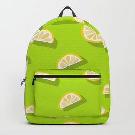 Slices of Orange - Pattern on Lime green Backpack