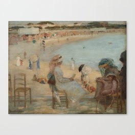 Rupert Bunny - On the beach Canvas Print