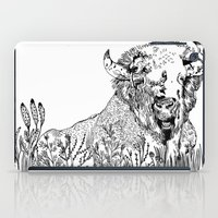 bison iPad Cases featuring Bison  by ARI(Sunha Jung)