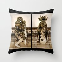 medieval Throw Pillows featuring Medieval Nightmare by Irina Chuckowree