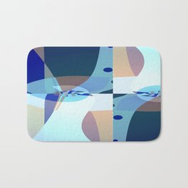 Abstract Fractal Art - Quistere- Cubism- Picasso Art Bath Mat