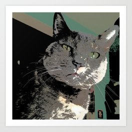 Diluted Drama showing her colors Art Print
