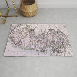 Vintage Map of New Jersey (1884) Rug