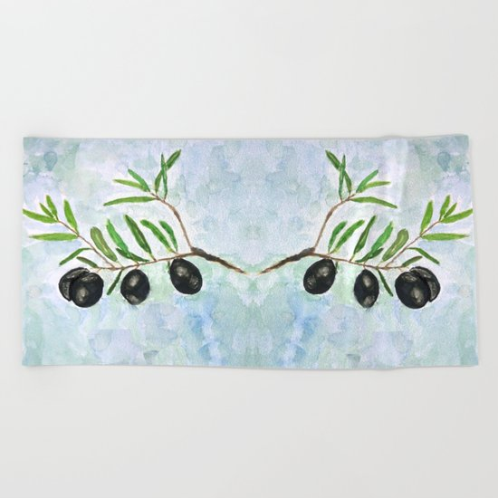 Olive 2 Beach Towel