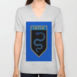 Milan Blue Badge Unisex V-Neck
