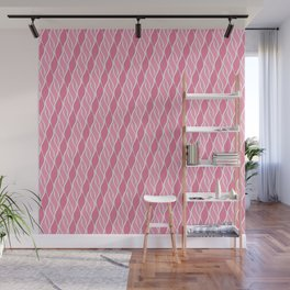 Pretty in Pink Stripes Wall Mural