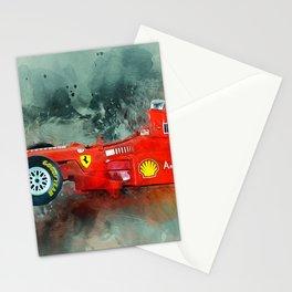F1 Sports Car Stationery Cards