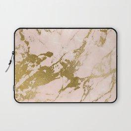Champagne Blush Marble Laptop Sleeve