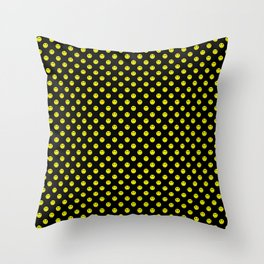 Smiley Happy in yellow color on a blackbackground - EFS168 Throw Pillow