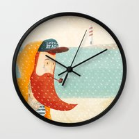 beach Wall Clocks featuring Beach by Seaside Spirit