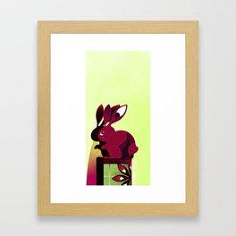 Usagi no Kompanion Framed Art Print