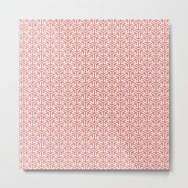 Living Coral Pattern IV Metal Print