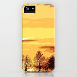 sunset lanscape iPhone Case