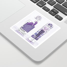 Women wearing Ultra violet - Pantone color of the year 2018 Sticker