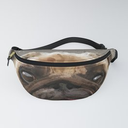 Love your Pug Watercolor Fanny Pack