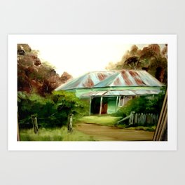 Original Painting of my Great Grandfather's Home Art Print