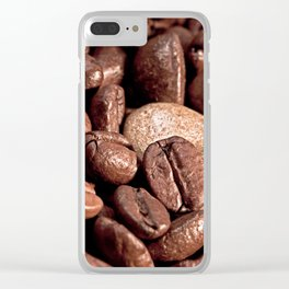 Coffee and Gold Clear iPhone Case