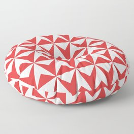 Mid Century Modern Triangle Pattern 531 Red Floor Pillow