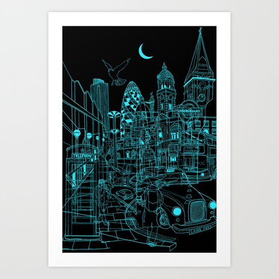 London! Night Art Print