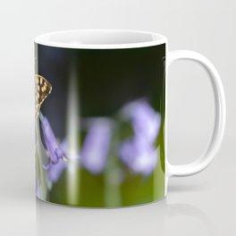 Butterfly on Bluebells Coffee Mug